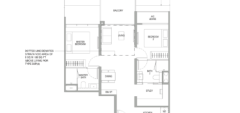 sengkang-grand-residences-floor-plan-2-bedroom-study-singapore